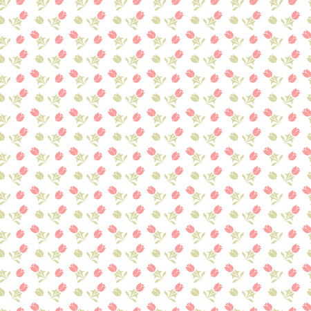 page background: Vector seamless pattern. Repeating floral texture with flowers. Pattern can be used as background, fabric print, surface texture, wrapping paper, web page backdrop, wallpaper Illustration