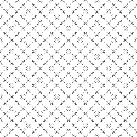 regularly: Seamless pattern. Abstract geometrical background. Modern stylish texture with small dots. Regularly repeating dotted rhombuses and crosses. Vector element of graphical design