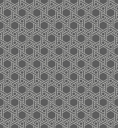 regularly: Seamless pattern. Abstract geometrical background. Modern stylish texture. Regularly repeating simple elegant ornament with intersecting hexagons. Vector element of graphical design