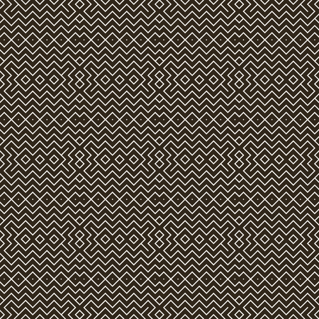 regularly: Seamless pattern. Abstract geometrical background. Modern stylish texture with regularly repeating linear zigzags, rhombuses. Vector element of graphical design