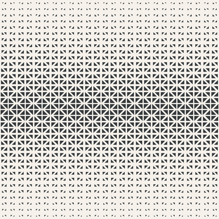 small: Seamless pattern. Abstract halftone background. Modern stylish texture. Repeating grid with triangles of the different size. Vector element graphic design Illustration