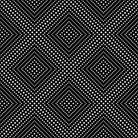 diamond texture: Seamless pattern. Monochrome lace background. Modern small dotted texture with regularly repeating geometrical shapes, small dots, dotted rhombus, diamond. Vector element of graphic design