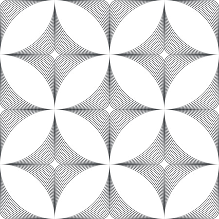regularly: Seamless pattern. Modern stylish texture with regularly repeating geometrical shapes, rhombus, arcs, ovals. Vector element of graphical design