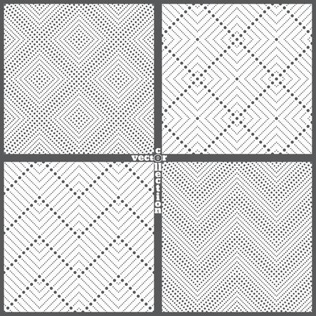 diamond texture: Set of seamless patterns. Abstract lace background. Modern small dotted texture with regularly repeating geometrical shapes, small dots, dotted rhombus, diamond, zigzags. Vector element of graphic design