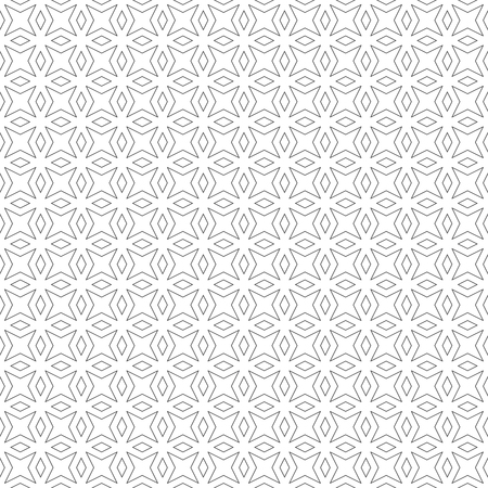 Seamless pattern. Modern stylish texture. Regularly repeating geometrical pattern with stars, rhombuses, diamonds. Vector abstract seamless background