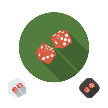 illegally: Dice icon illustration for your design. Illustration
