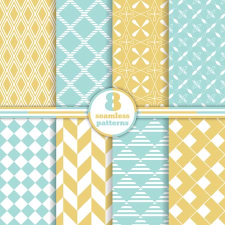Set of seamless patterns. Classical stylish textures. Stock fotó - 52676343