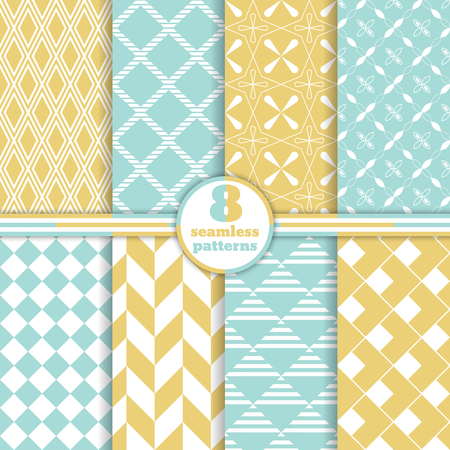 Set of seamless patterns. Classical stylish textures.
