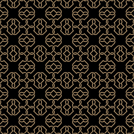 curving lines: Seamless pattern. Luxury elegant texture. Regularly repeating stylish ornament with intersecting curving lines, spiral elements.