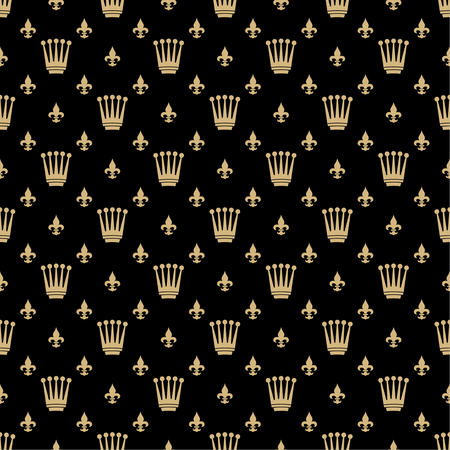 governor: Vector seamless pattern. Luxury gold texture with repeating crowns and scepters. Illustration