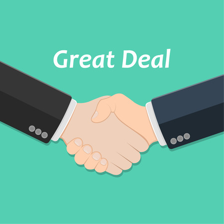 profitable: Partner handshake. Business agreement concept. Successful and profitable cooperation. Symbol of the great deal. Business design element