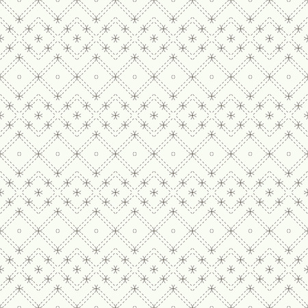 regularly: Regularly repeating geometric grid with dashed thin lines, rhombuses, diamonds. Abstract seamless background.