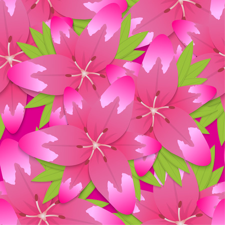 blossoming: A bouquet from the blossoming lilies. Vector illustration.