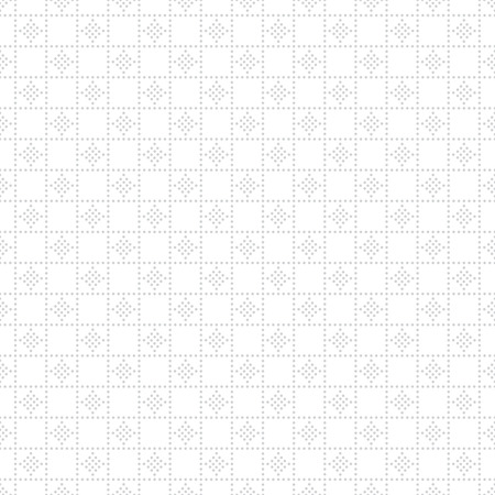 regularly: Regularly repeating gentle pastel dotted grid with small dots, rhombus. Vector seamless background.