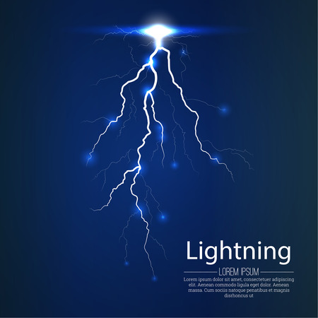menacing: Flash of a lightning on a translucent background.  Vector abstract background