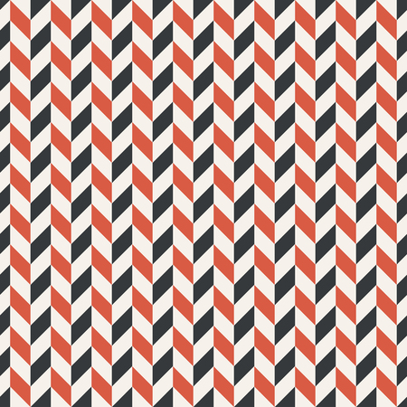 Regularly repeating geometrical pattern with zigzag stripes. Vector abstract background Ilustração