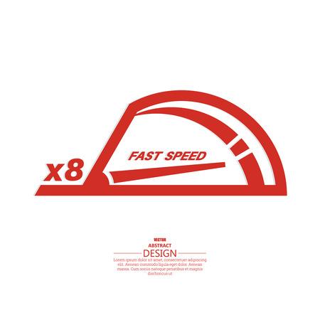 low scale: Vector speedometer scale.  Vector element of graphic design