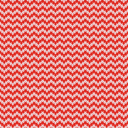 woolen: Repeating knitted seamless pattern with zigzag. Woolen texture with a jacquard pattern. Abstract winter holiday design. Sweater ornament Illustration