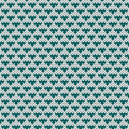 jacquard: Repeating knitted seamless pattern with triangles. Woolen texture with a jacquard pattern.