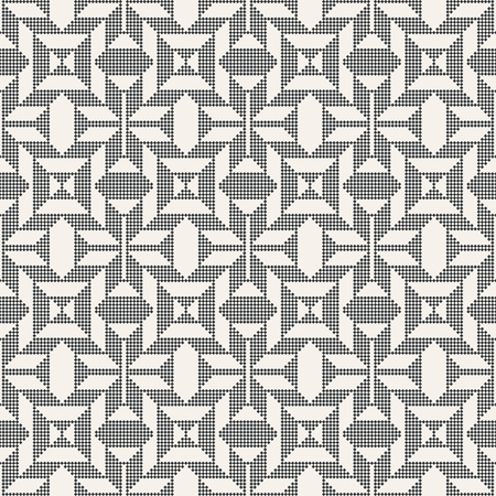 regularly: Seamless pattern. Abstract pixel background. Modern stylish texture with small rhombuses. Regularly repeating geometrical ornament with pixel zigzags, rhombus, triangle. Illustration