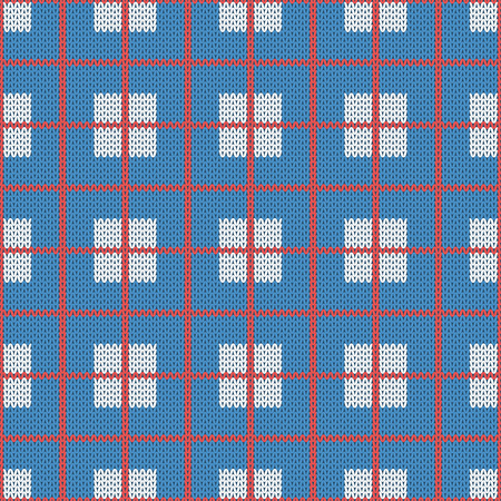woolen: Repeating knitted seamless pattern squares, rhombus. Woolen texture with a jacquard pattern. Abstract winter holiday design. Sweater ornament Illustration