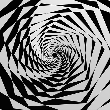 expressing: The abstract geometrical background expressing illusion of infinity. Vector illustration. Illustration