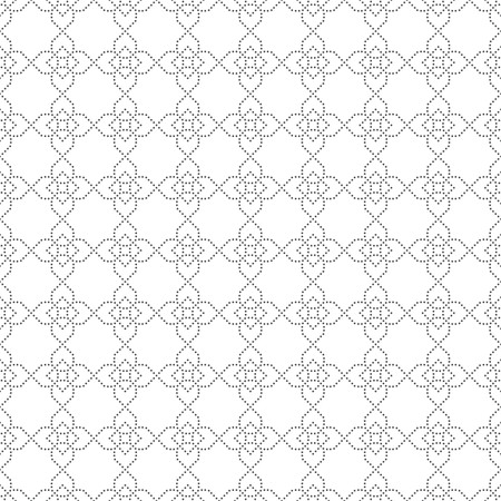 regularly: Vector seamless pattern. Modern stylish texture. Regularly repeating geometric tiles with small dots, dotted crosses, rhombus. Abstract seamless background. Contemporary design