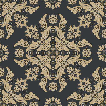 antique wallpaper: Vector seamless pattern. Luxury elegant texture of baroque style. Pattern can be used as a background, wallpaper, wrapper, page fill, element of ornate decoration