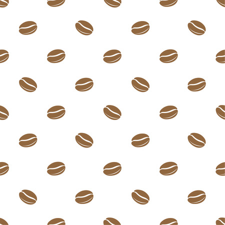 joyfulness: Seamless texture of grains of coffee on a white background. Vector illustration. Illustration