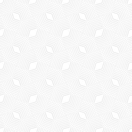 infinitely: Seamless pattern. Modern stylish texture. Infinitely repeating small textured geometrical tiles consisting of dotted rhombuses, diamonds. Vector abstract halftone background