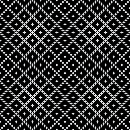 regularly: Seamless pattern. Classical monochrome texture. Regularly repeating geometric tiles with rhombuses. Vector element of graphical design