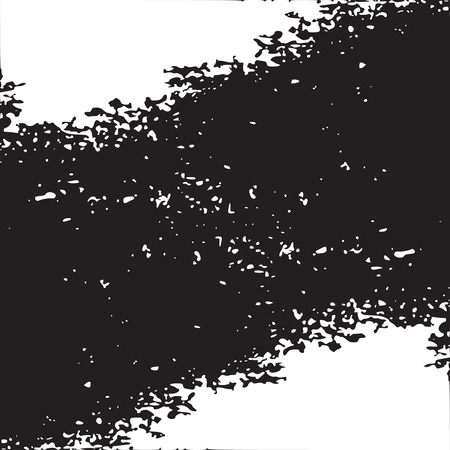 resin: Monochrome black and white abstract background with torn edges. Uneven strokes with small particles at edges. Vector element of graphical design