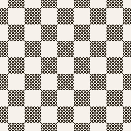 infinitely: Checkered seamless pattern. Classic abstract geometric background. Infinitely repeating geometrical texture consisting of small rhombuses, ovals. Vector element of graphical design