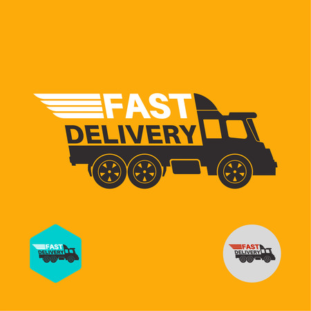 Free delivery icon. Round the clock shipment concept. Design can be used as a poster, advertising, singboard. Vector element of graphic design
