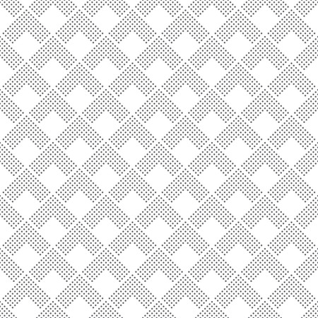 Art deco seamless pattern. Modern stylish texture. Regularly repeating geometrical ornament with corner dotted lines, rhombuses. Vector abstract seamless background Illustration