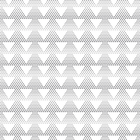 Vector seamless pattern. Stylish modern texture with small dots. Regularly repeating dotted triangles. Abstract halftone background. Contemporary design Illustration