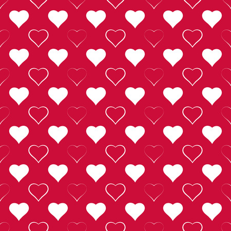 Seamless pattern. Festive elegant texture with repeating hearts. St Valentines day background. Vector element of graphical design Illustration