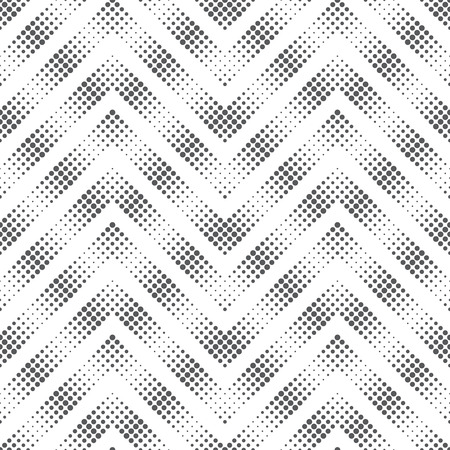 Vector seamless pattern. Modern stylish texture in the form of zigzags, waves. Regularly repeating geometric shapes, dotted zigzag stripes. Vector element of graphical design