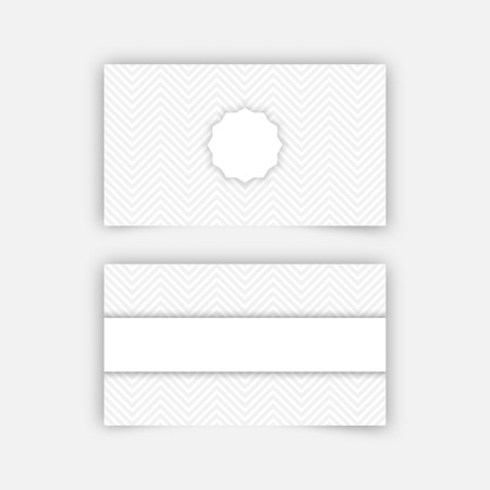 Business card blank template with textured background from zigzag business card blank template with textured background from zigzag strips minimal elegant vector design vector flashek Image collections