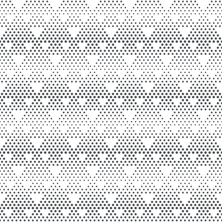 continue: Vector seamless pattern. Stylish modern texture with constant repetition classical geometrical shapes, small dots, dotted halftone triangles. Contemporary design