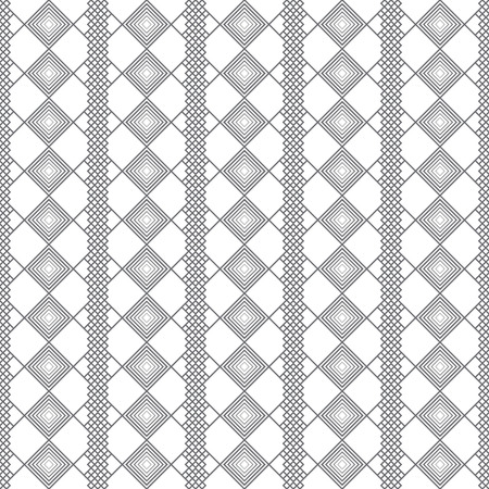 continue: Vector seamless pattern. Stylish modern texture with constant repetition rhombuses, diamonds. Geometrical background. Contemporary design.
