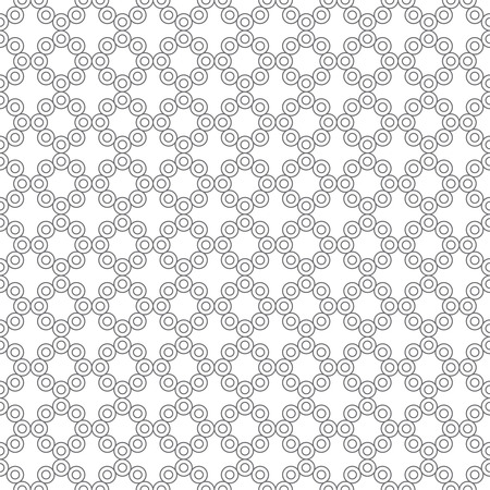Vector seamless pattern. Simple elegant geometrical texture. Regularly repeatition outline circuit circles and crosses. Vector element of graphical design Illustration