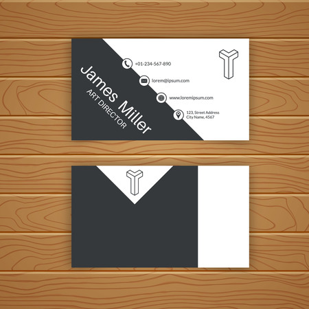 Business Card Blank Template With Textured Background Minimal