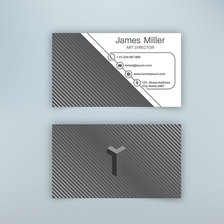 Business card blank template with textured background from thin business card blank template with textured background from thin diagonal lines minimal elegant vector design friedricerecipe Gallery