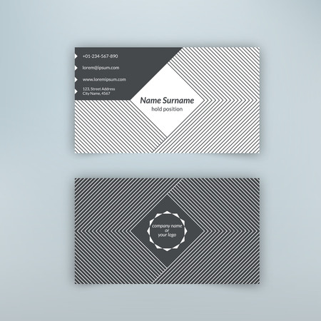 Business Card Blank Template With Textured Background From Corner