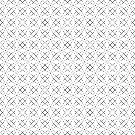 Vector seamless pattern. Modern stylish texture with regularly repetition original stars and small rhombuses. Trendy geometric abstract background.