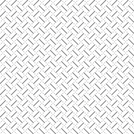 Vector seamless pattern. Abstract small textured background. Classical simple repeating geometrical texture with repetition thin lines, dotted rhombuses. Surface for wrapping paper, shirts, cloths. Illustration