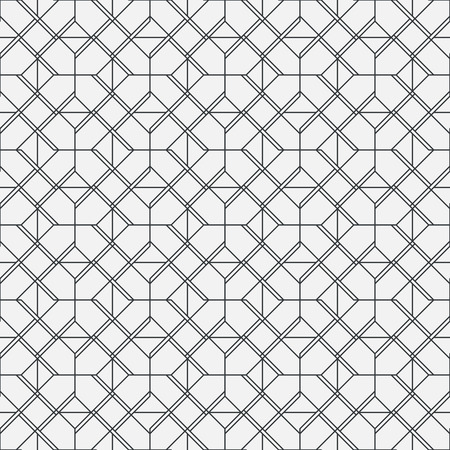 grid pattern: Vector seamless pattern. Modern geometrical texture with regularly repetition rhombus linear tiles. Thin line. Trendy design. Illustration