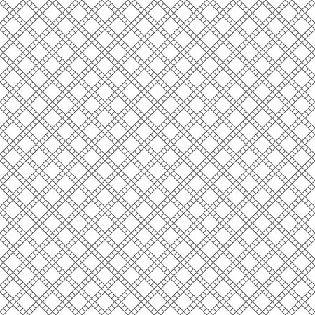 Vector seamless pattern. Modern simple geometrical texture with small outline rhombuses and thin lines which form classical tile shapes. Abstract regularly repeating background. Illustration