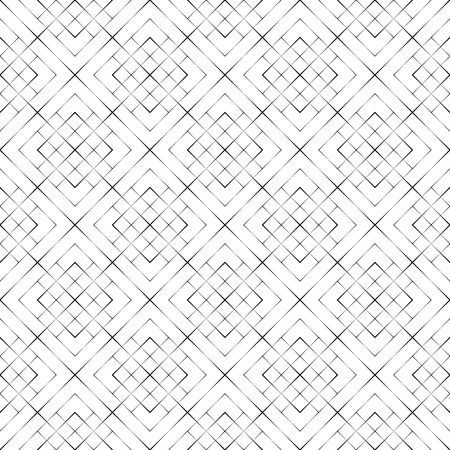Modern halftone texture; Regularly repeating linear grids from rhombuses with decreasing contour thickness, Geometric illustration for your design.